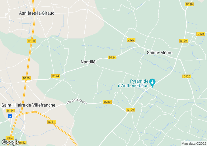 Map for nantille, Charente-Maritime, France