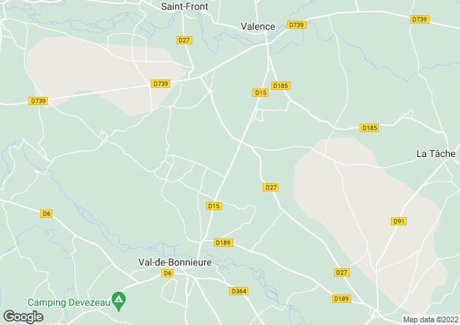 Map for st-amant-de-bonnieure, Charente, France