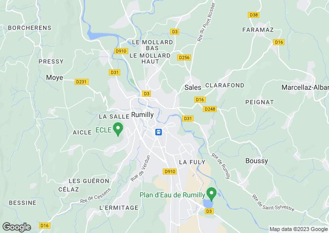 Map for Rhone Alps, Haute-Savoie, Sales