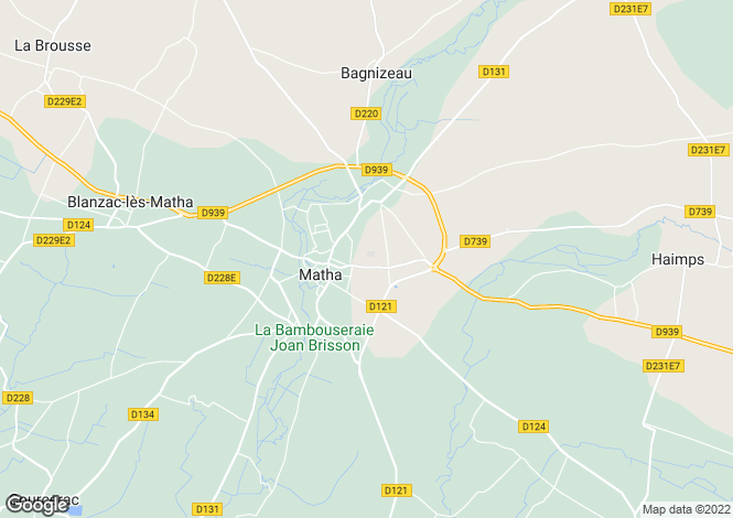 Map for matha, Charente-Maritime, France