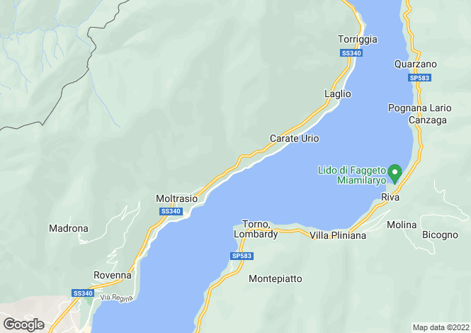 Map for Carate Urio, Como, Lombardy