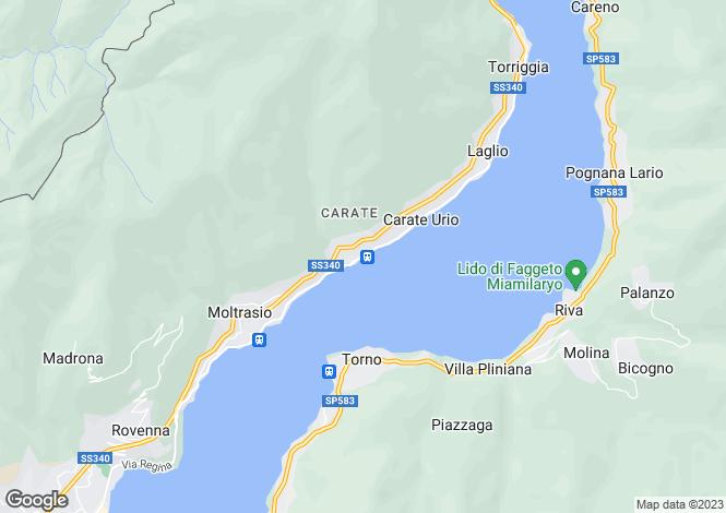 Map for Carate Urio, Como, Italy