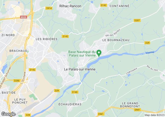 Map for le-palais-sur-vienne, Haute-Vienne, France