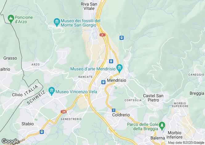 Map for Ticino, Mendrisio
