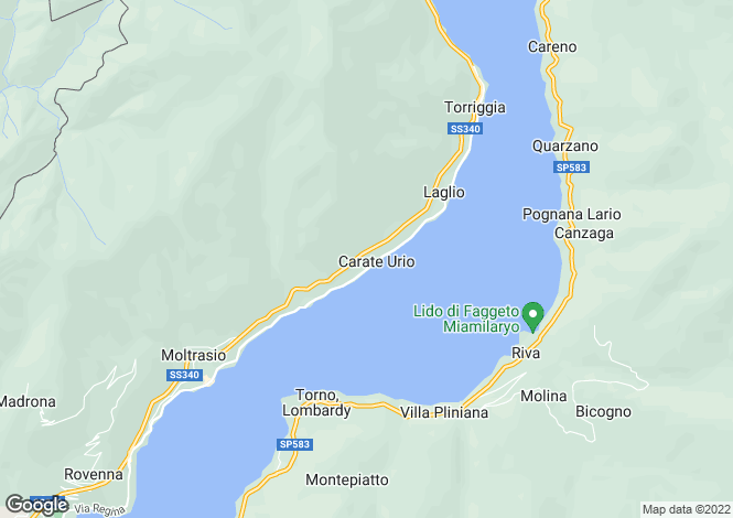 Map for Lombardy, Como, Carate Urio