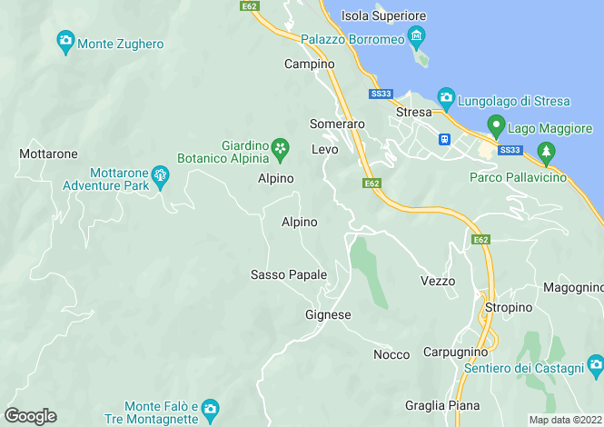 Map for Piedmont, Verbano-Cusio-Ossola, Alpino