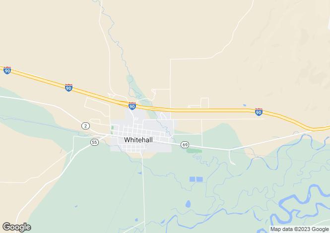 Map for USA - Montana, Jefferson County, Whitehall