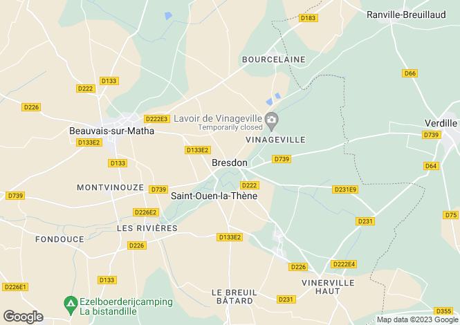 Map for France - Bresdon, Charente-Maritime