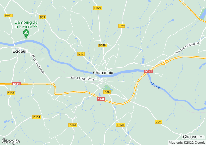 Map for Secteur: Chabanais, Charente