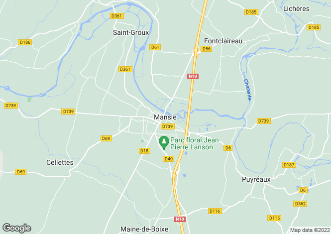 Map for Secteur: Mansle, Charente