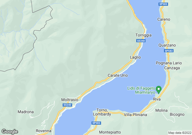 Map for Carate Urio, Lombardy, Italy