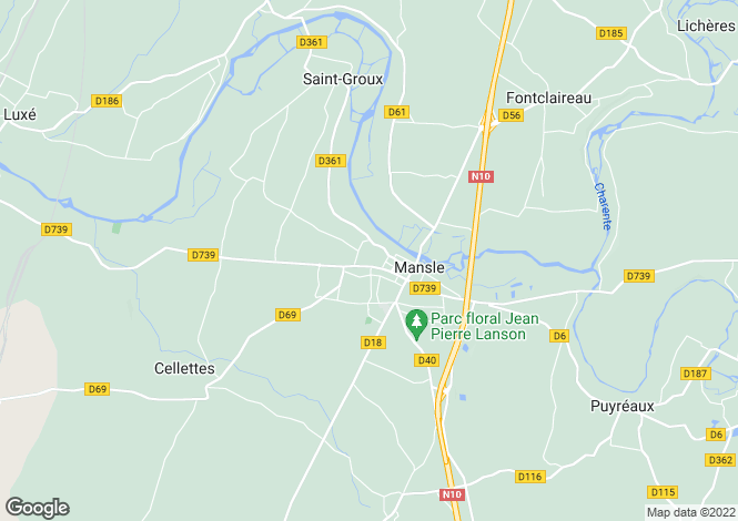 Map for mansle, Charente, France