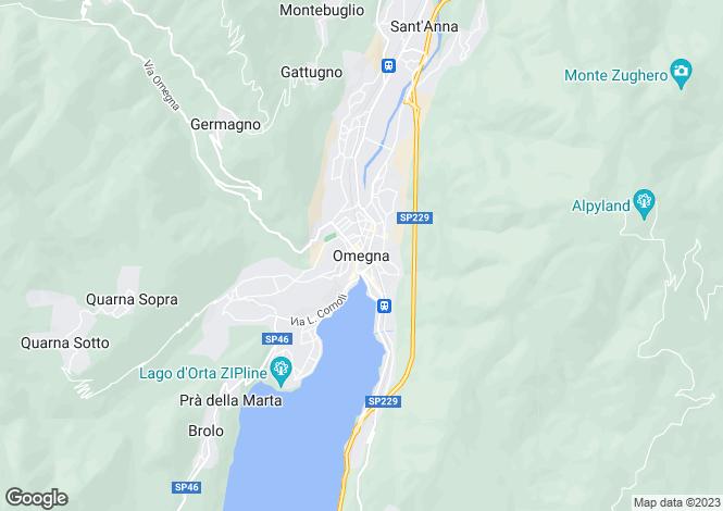 Map for Piedmont, Verbano-Cusio-Ossola, Omegna