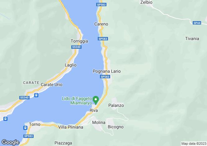 Map for Pognana Lario, Como, Lombardy
