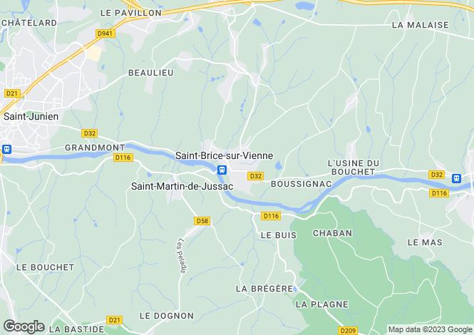 Map for st-brice-sur-vienne, Haute-Vienne, France