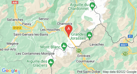 map of Aiguille du Midi (France)