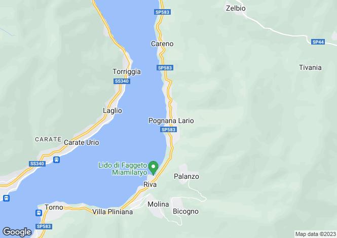 Map for Lombardy, Como, Pognana Lario