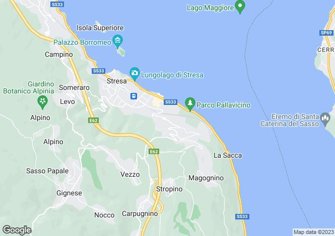 Map for Stresa, Verbano-Cusio-Ossola, Piedmont
