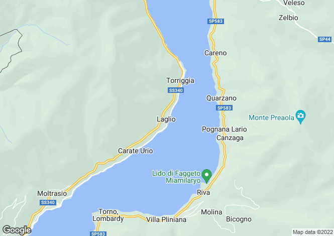 Map for Lombardy, Como, Lagio