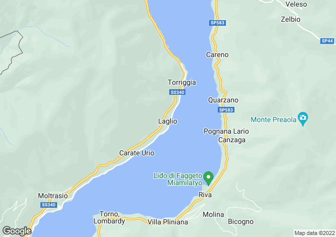 Map for Lombardy, Como, Laglio