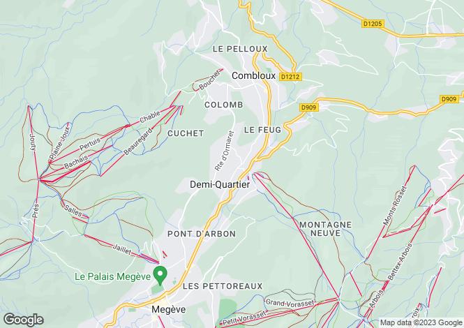 Map for Rhone Alps, Haute-Savoie, Demi-Quartier