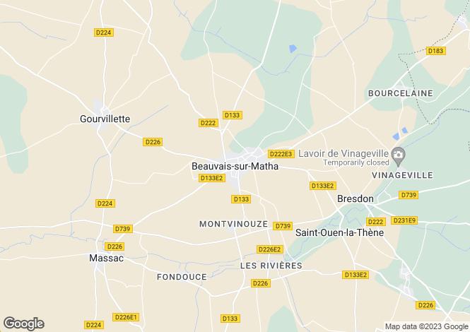 Map for Secteur: Beauvais-sur-Matha, Charente-Maritime