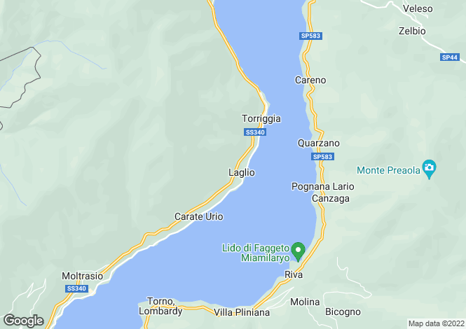 Map for Liberty Villa, Laglio, Lake Como, Italy