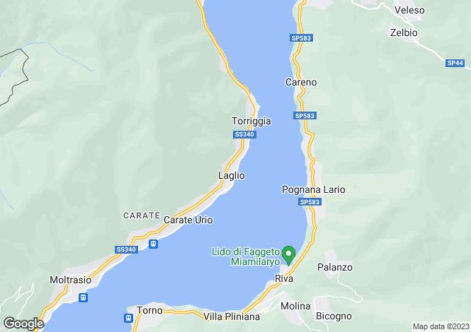 Map for Laglio, Como, Lombardy