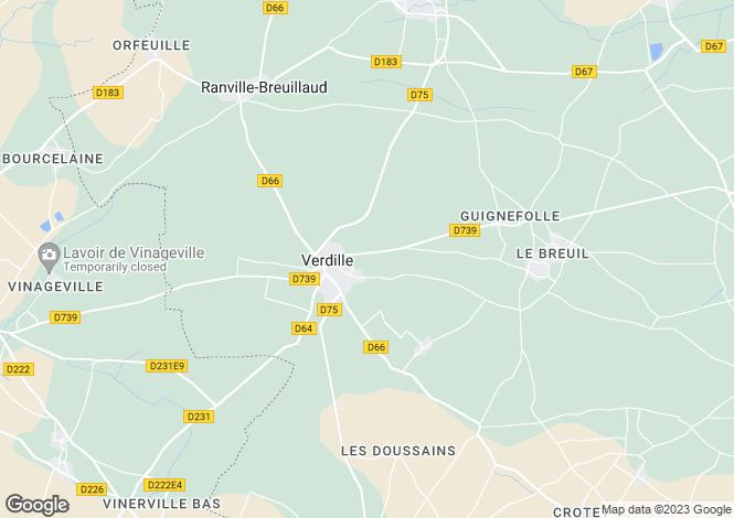 Map for Poitou-Charentes, Charente, Verdille