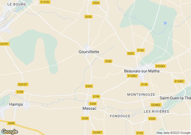 Map for Gourvillette, Charente-Maritime, Poitou-Charentes