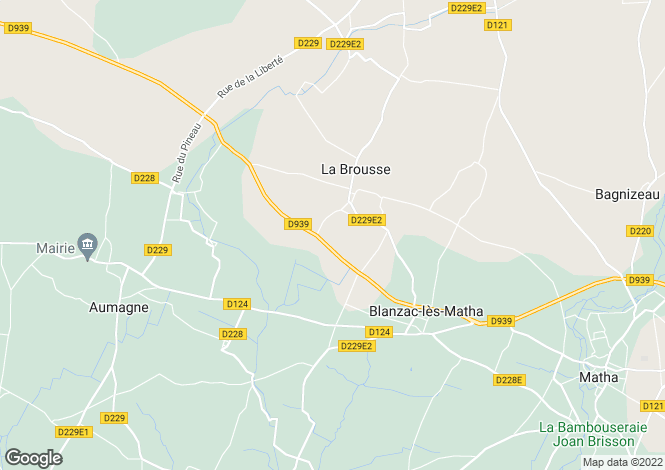 Map for la-brousse, Charente-Maritime, France