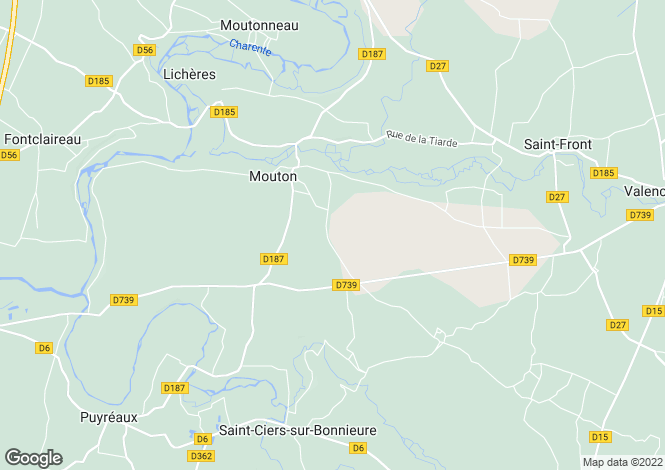 Map for mouton, Charente, France