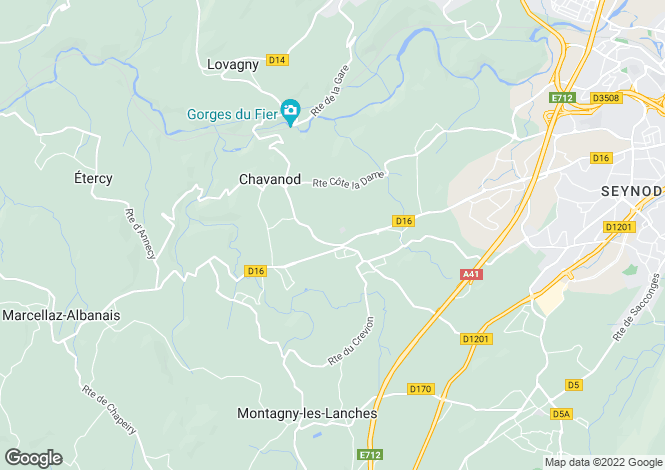 Map for Chavanod,France