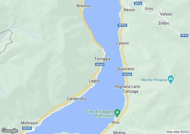 Map for Laglio, Lombardy, Italy