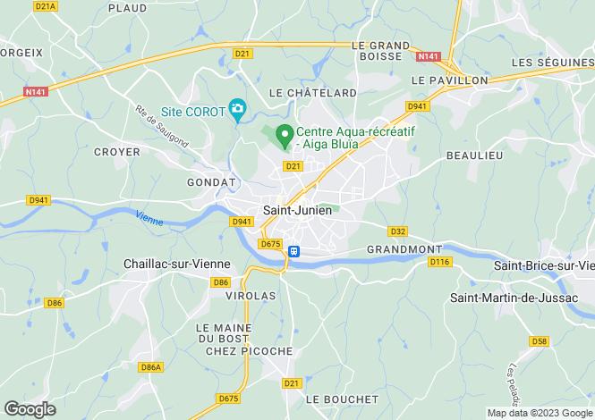 Map for Secteur: Saint-Junien, Haute-Vienne