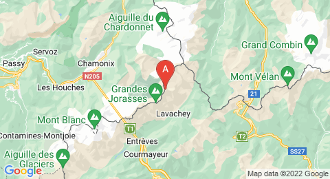 map of Aiguille de Leschaux (France)