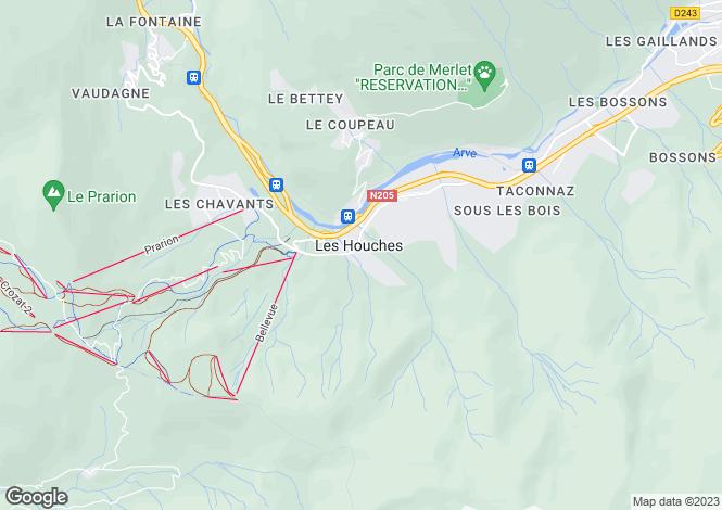 Map for Les Houches, Haute-Savoie, Rhone Alps