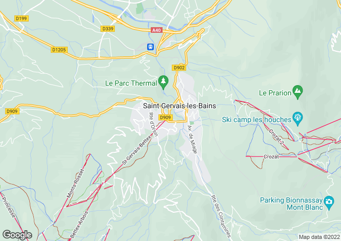 Map for Saint-Gervais-les-Bains, Haute Savoie, France