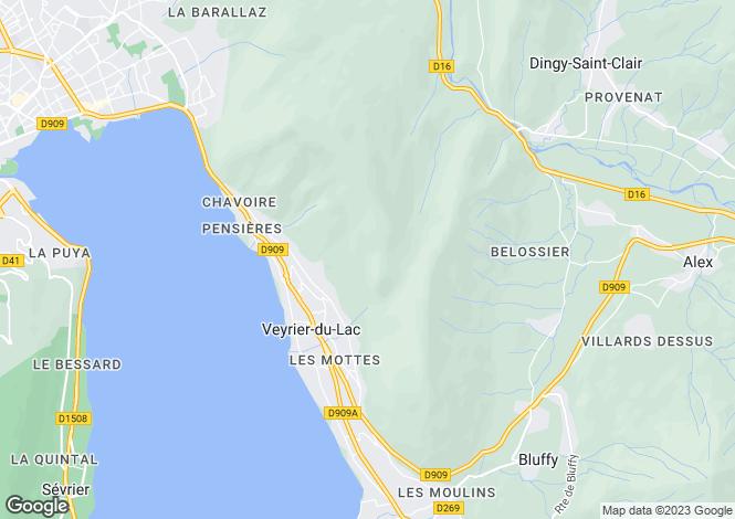 Map for Veyrier Du Lac,France