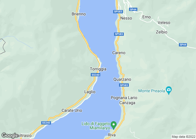 Map for Via Vecchia Regina, Laglio, Lake Como, Italy