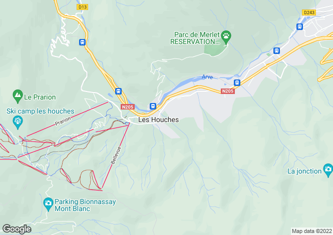 Map for 74310 les-houches