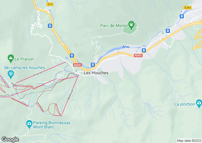 Map for LES HOUCHES