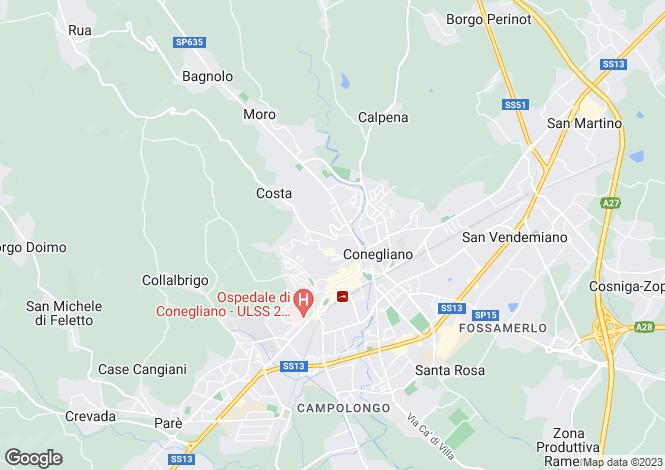 Map for Italy - Veneto, Treviso, Conegliano
