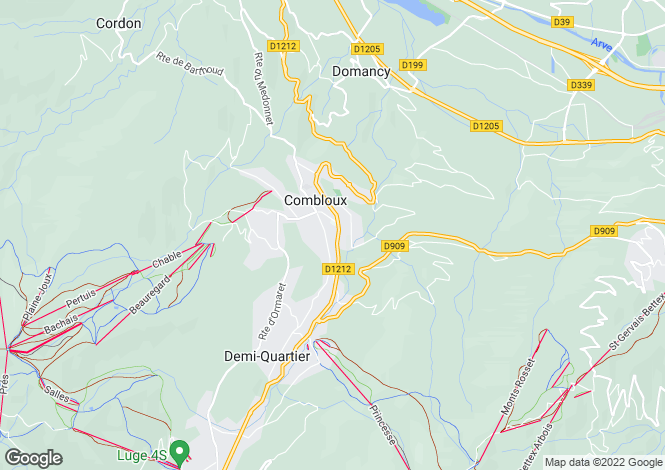 Map for Megève, Combloux, French Alps