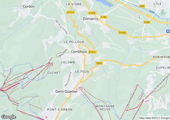 Map for Les Fermes du Mont Blanc, Combloux