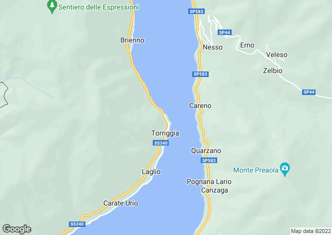 Map for Laglio, Como, Lombardy