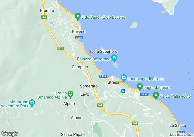Map for Piedmont, Verbano-Cusio-Ossola, Stresa