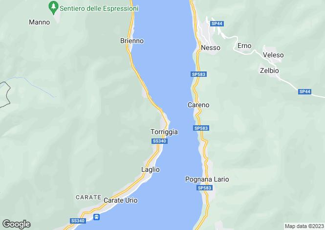 Map for Lombardy, Como, Laglio
