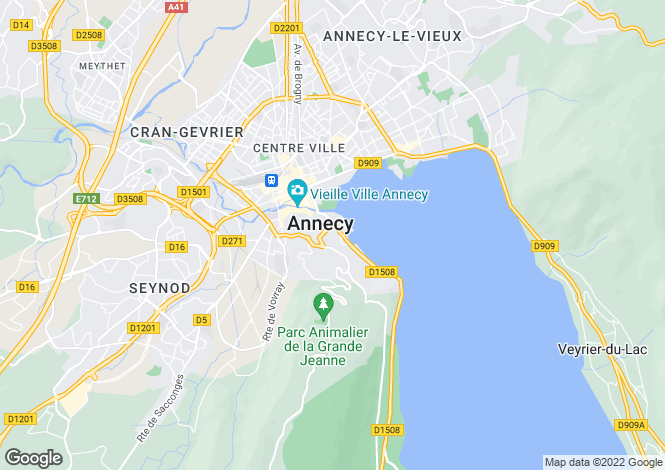 Map for Rhone Alps, Haute-Savoie, Annecy