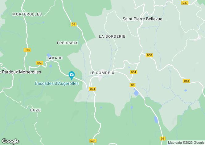 Map for Le Compeix, Creuse, Limousin